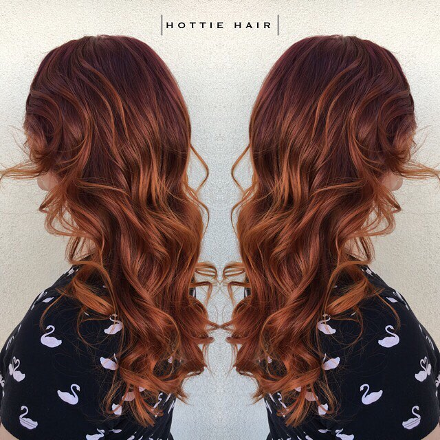 Copper Auburn No Clip In Hair Extensions Hottie Hair Extensions
